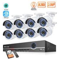 H.265 8CH 1080P NVR комплект POE камера безопасности Система Комплект ip-камера IR-Cut открытый водонепроницаемый CCTV комплект видеонаблюдения