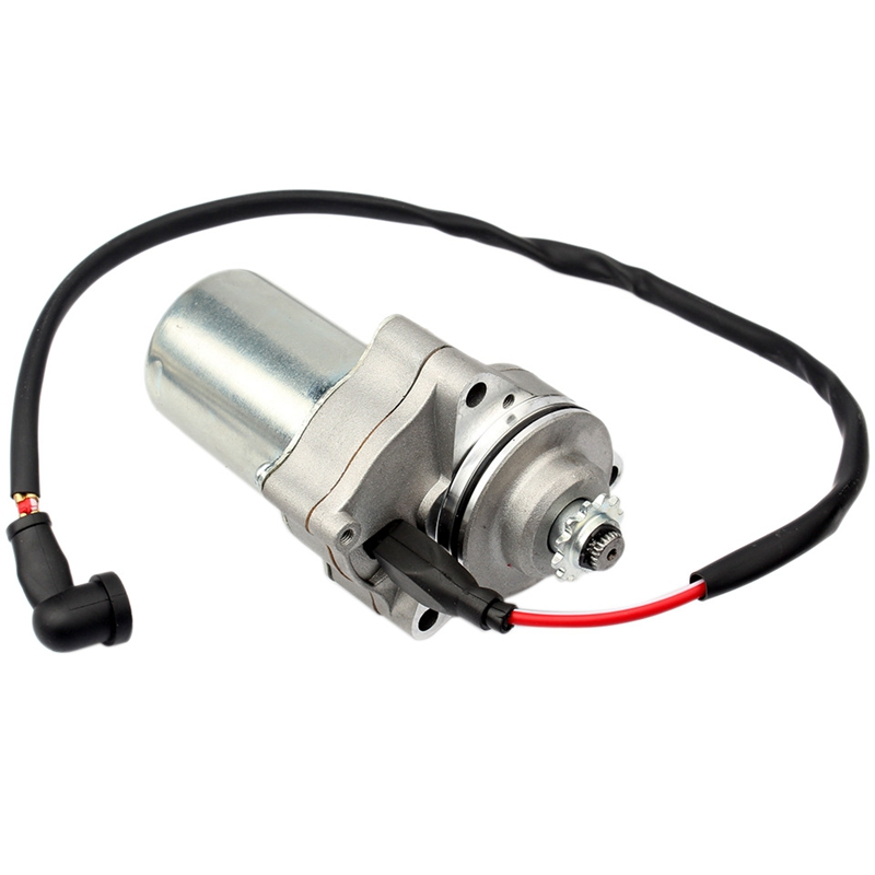 Motorcycle Electric Starter Motor 12 Teeth 3 Bolt for 4 Stroke 50/70/90/110/125Cc ATV Quad Pit Bike Motorcycle Accessories|Starter Parts| |  - title=
