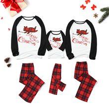 Pyjama papa maman et moi à carreaux, ensemble de noël 2020, chemisier et pantalon, vêtements de nuit assortis pour la Famille