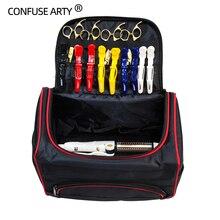 Profesyonel makas çantası Salon kuaförlük aracı çok fonksiyonlu depolama çanta saç makas aracı makyaj çantası ile şerit