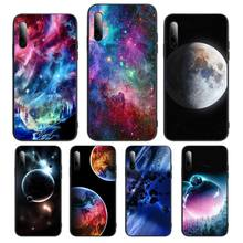 space starry sky planets Phone Case For Xiaomi pocophone F1 mi10lite 5 8se pro note2 3 6 8explorer 9t a2lite Cover Fundas Coque