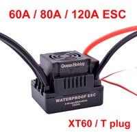 Controlador ESC sin escobillas para coche teledirigido, controlador de velocidad eléctrica de 60A 80A 120A S-80A, con 5,5 V / 3A BEC para coche teledirigido 1/8 1/10 1:10