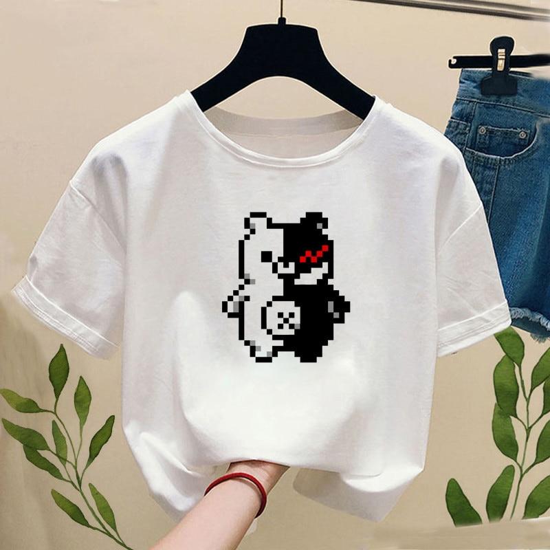 Janpan Anime Kokichi Oma T-shirt with Print Women Fashion Truth and Lies Game Funny Graphic Tee Shirt Casual Short Sleeve Tops