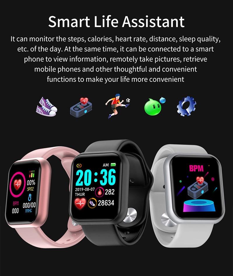 pulso relógio de luxo feminino aço inoxidável smartwatch