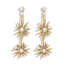 Newest Shiny Crystal Star Moon Earrings Charming Earrings For Women Fashion Jewelry Wholesale Gift Stars The Moon Ear Ring 2019(China)