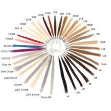 Neitsi двойные нарисованные Реми волосы цветные кольца/цветные диаграммы 37 цветов доступны человеческие волосы могут быть окрашены для образца салона