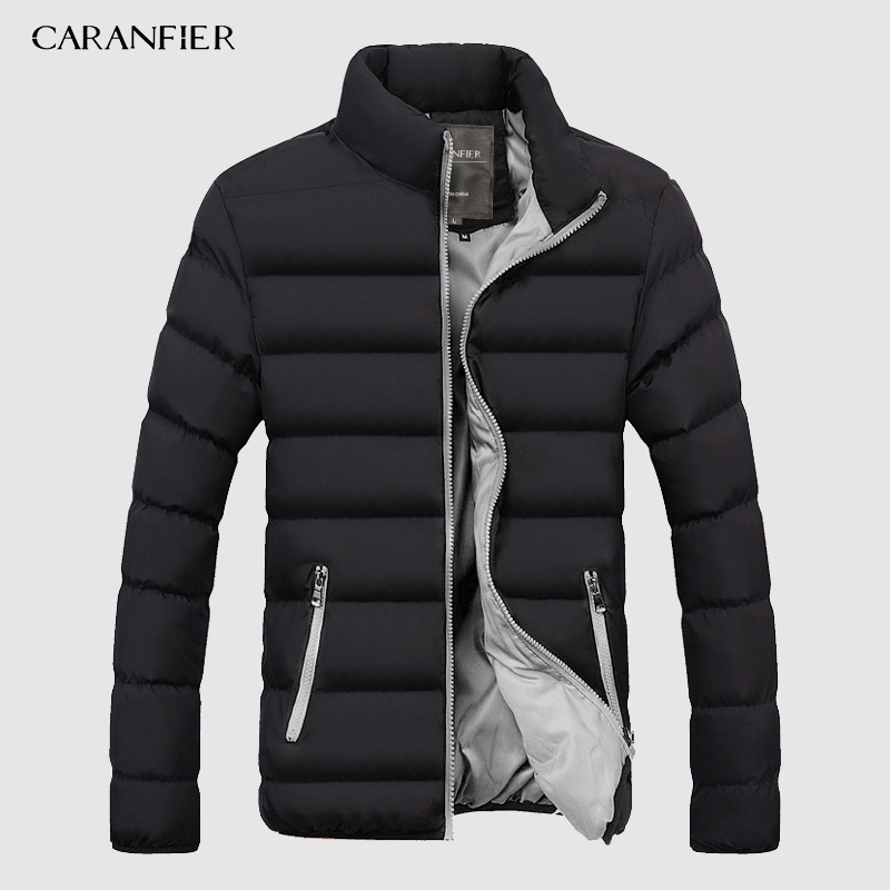 CARANFIER Winter Jacket Men 2019 Fashion Stand Collar Male   Parka   Jacket Mens Solid Thick Jackets and Coats Man Winter   Parkas   4XL