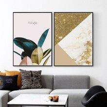 Quadri Da Parete Nordic Poster Plants Art Posters Marble Pattern Picture Wall And Prints Home Decoration Unframed