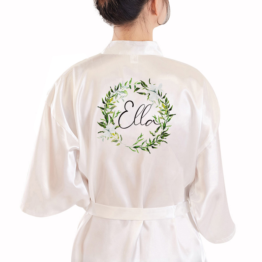 Custom BRIDE&Bridesmaid Robes Proposal Engagement Gifts Bridal Robes Wedding Party Dressing Gown Mother Of The Groom/Bride Robe