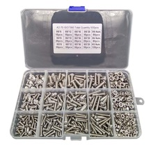 500pcs/Lot M3 M4 M5 Stainless Steel Hexagon Socket Head Screw Bolt Nut 304 Screws Mounting Hardware New
