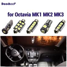 8 X Error Free Car LED Light for  Skoda Octavia II 2 RS LED Interior Dome Reading Light Kit Package , de BJ. 20004 цена в Москве и Питере
