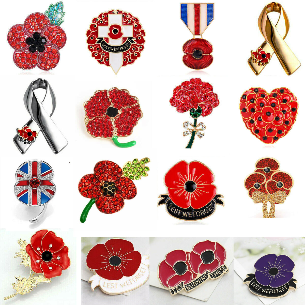 best badge UK 2019 Remembrance Day Soldier Veteran Army Red Poppy Enamel Pin Badge Brooch