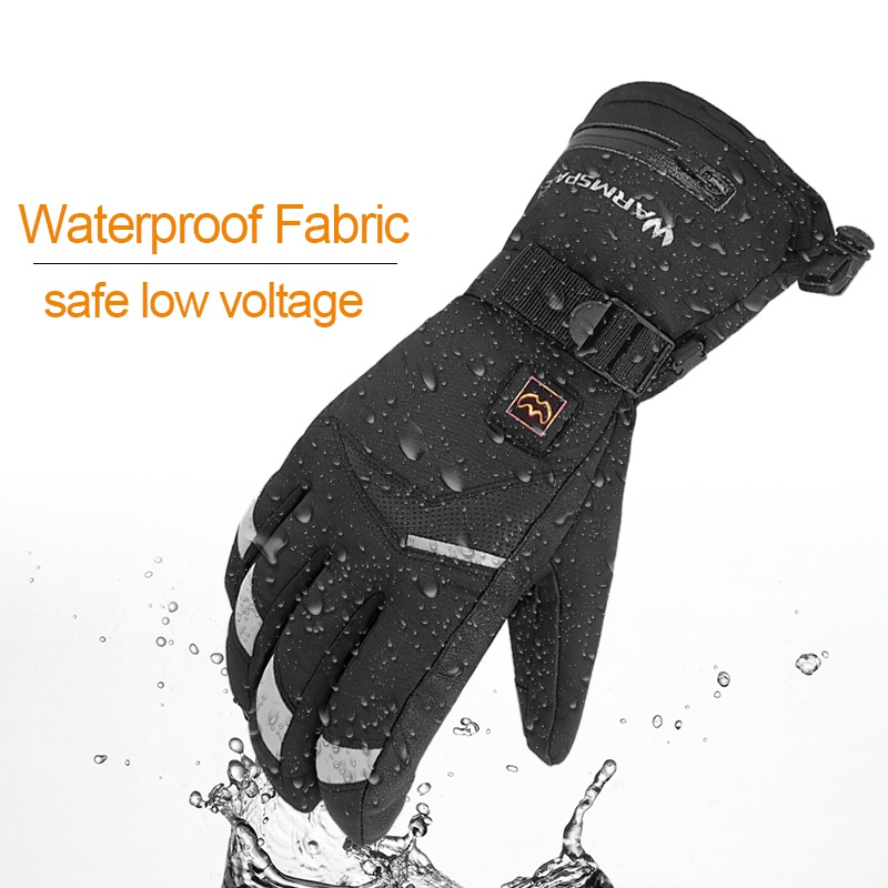 Hot Winter Electric Thermal Gloves Waterproof Heated Gloves Battery Powered Touch Screen Ski Motorcycle Snow Mitten Glove