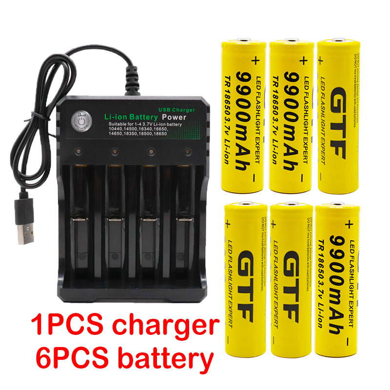 100%New 18650 Battery Flash-Light Usb-Charger 9900mah Wholesale for Led title=