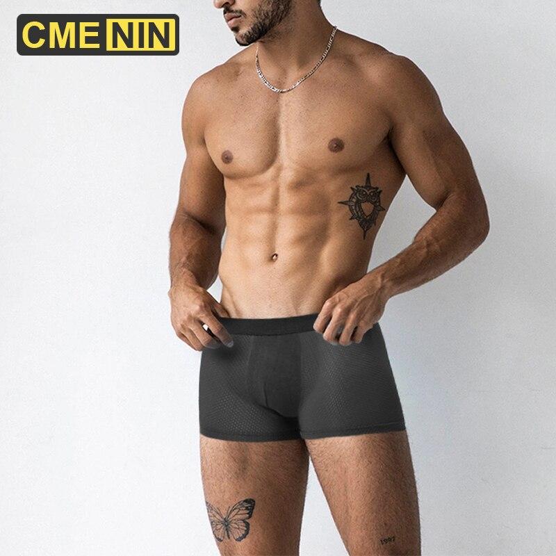 CMENIN Men's Panties Cotton Shorts Boxers Underwear Men Underpants Man Underwear Sexy Mesh Breathable Boxer Homme Boxershorts