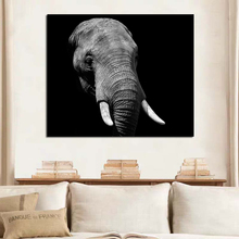Elephant Head Art Oil Painting Poster Room Decor Modern Wall Canvas Unique Gift For Home