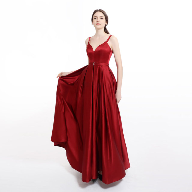 Vestido de noche de talla grande con abertura larga 3