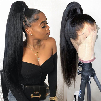 Sapphire Straight Peruvian Pre Plucked Full Lace Human Hair Wigs Glueless Full Lace Wigs Natural Full Lace Wig With Baby Hair
