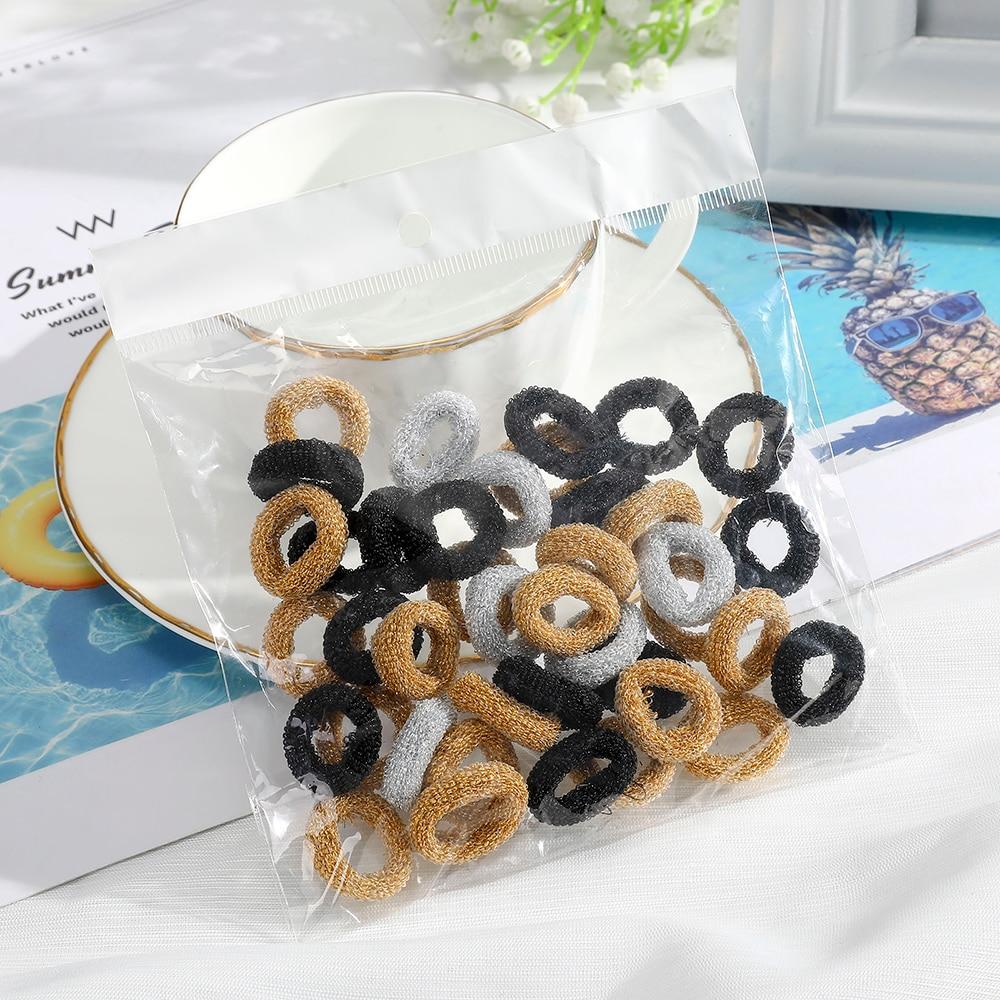 Haimeikang 40/50/100PCS Scrunchies Women Children Ponytail Holder Elastic Hair Rubber Hair Accessories Soft Fashion Headwear