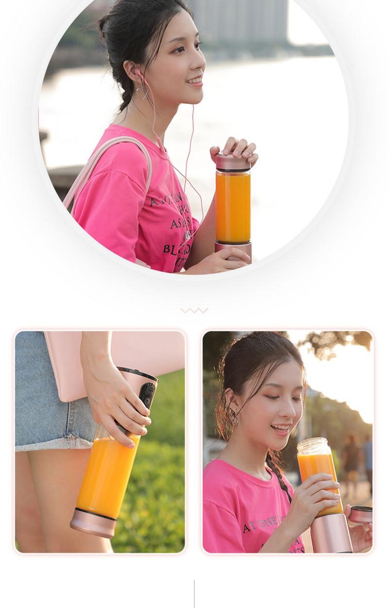 H04a8c7ae5cbe48be8383ef13fa9a4de3d Portable Electric Juicer Blender USB Mini Fruit Mixers Juicers Fruit Extractors Food Milkshake Multifunction Juice Maker Machine