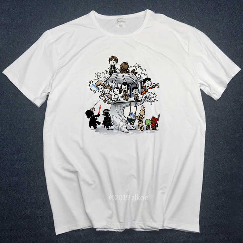 Komik T Shirt erkek Vader Bjj Star Wars brezilya Jiu Jitsu üst bebek Yoda mandaloryalı StarWars tişörtleri Judo kısa kollu tee tops