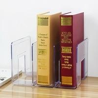Acrylic Bookend Multi-layer Magazine Storage Holder Book Stand Rack Stationery School Shelf Organizer Office Table Organization