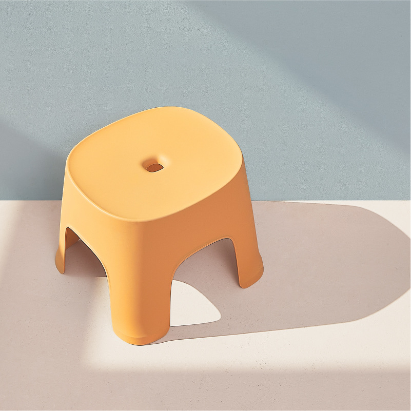 Thickened Plastic Bathroom Stool Bathroom Footstool Low Stool Square Stool For Adult Children Bathroom Shower Seats