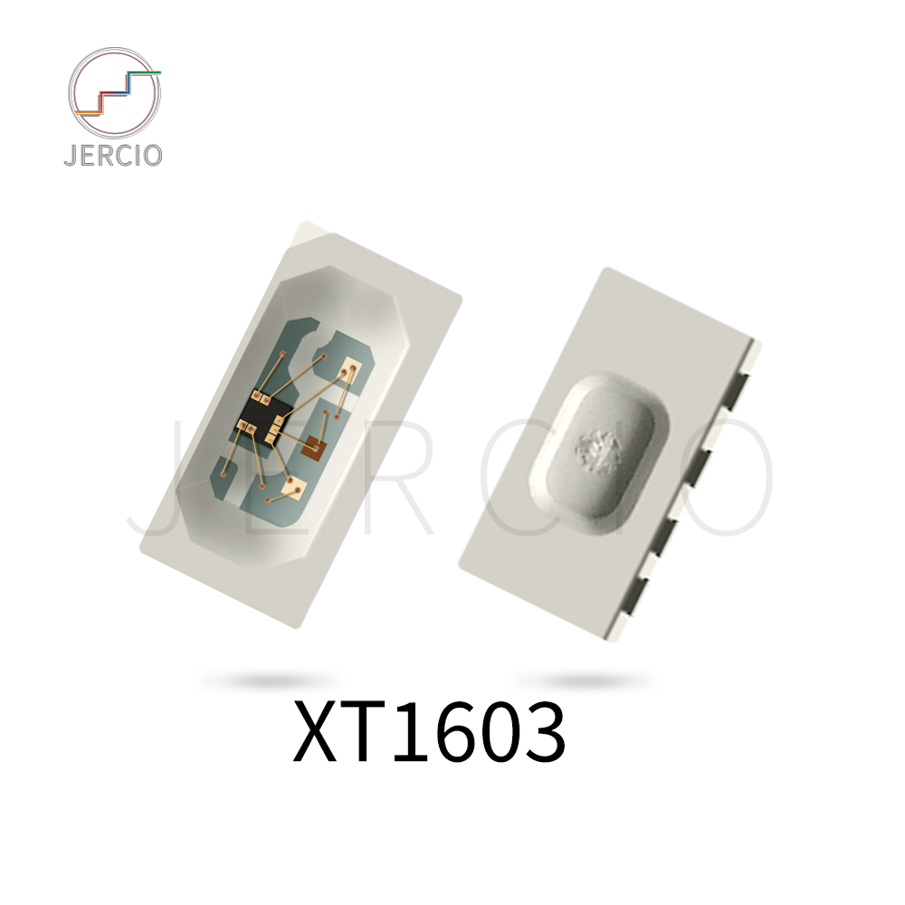 Jercio 50~1500pcs XT1603-N (Similar with WS2812b or SK6812) 4020 RGB DC 5V Side light Individually Addressable SMD LED