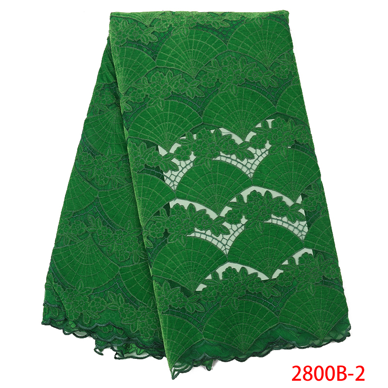 Hot Sale Velvet Lace Fabric,Nigerian Lace Fabric High Quality,Latest Lace Fabric For Dresses KS2800B-2