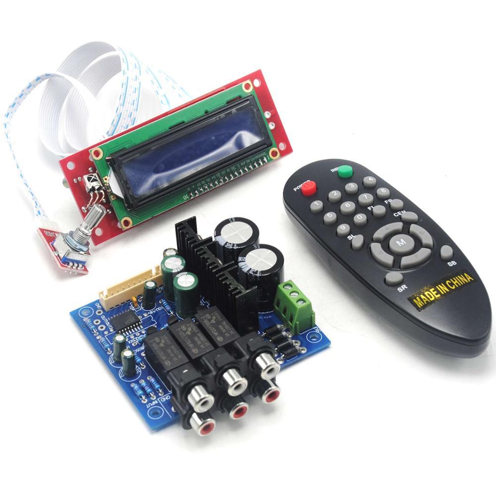 PGA2311 Stero Volume Preamp Remote Control Preamp board with LCD