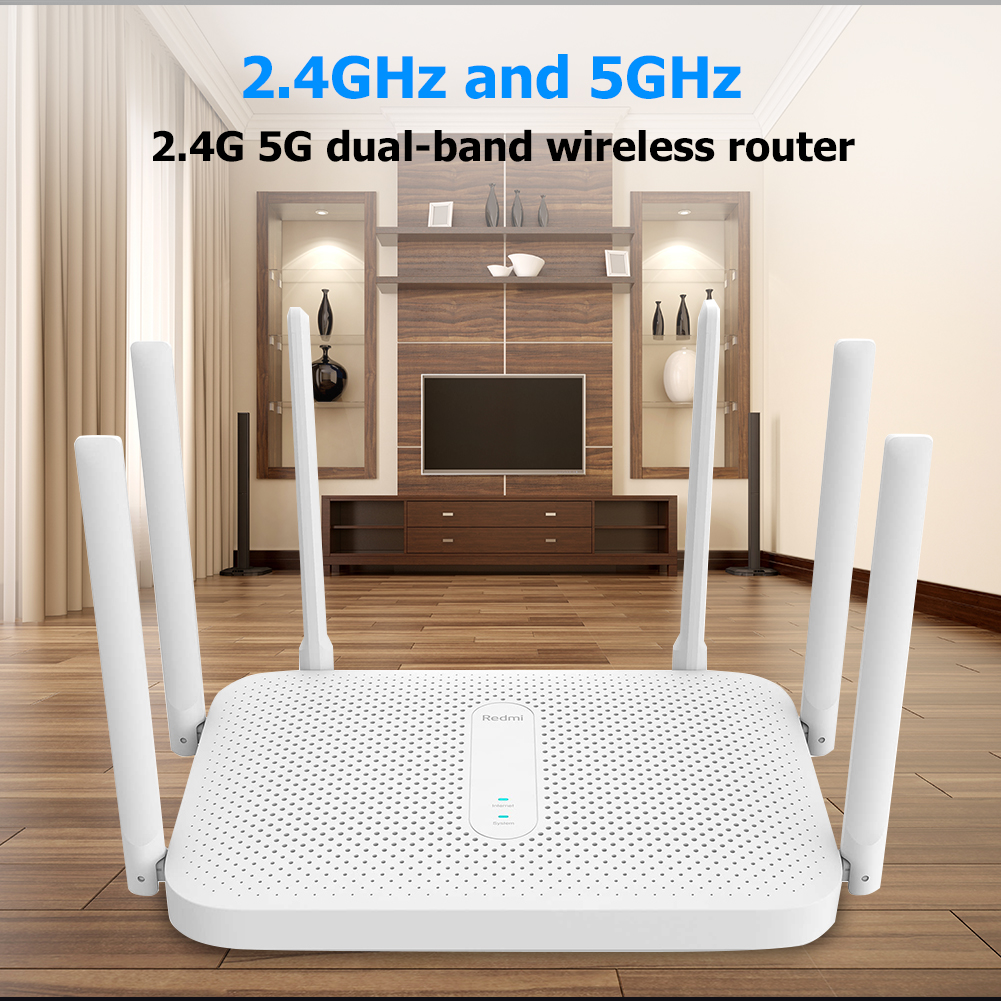 Xiaomi Router AC2100 2033Mbps 2.4G 5G Dual Band 128MB OpenWRT WiFi Router with 6 High Gain Antennas 3