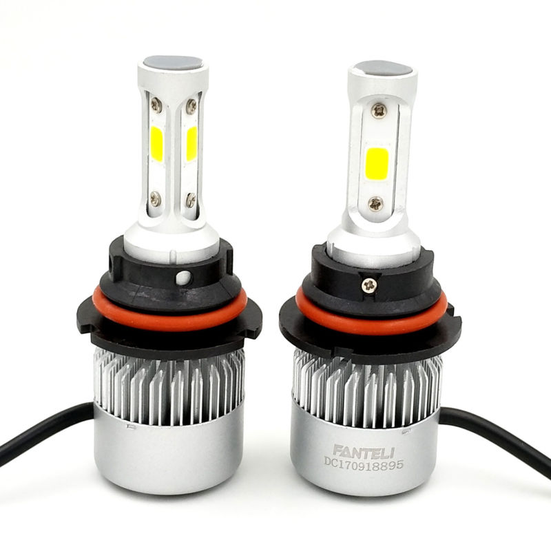 9007 HB5 Dual Hi/Lo Beam 1500W 225000LM LED Headlight Conversion Kit Bulbs 6000K