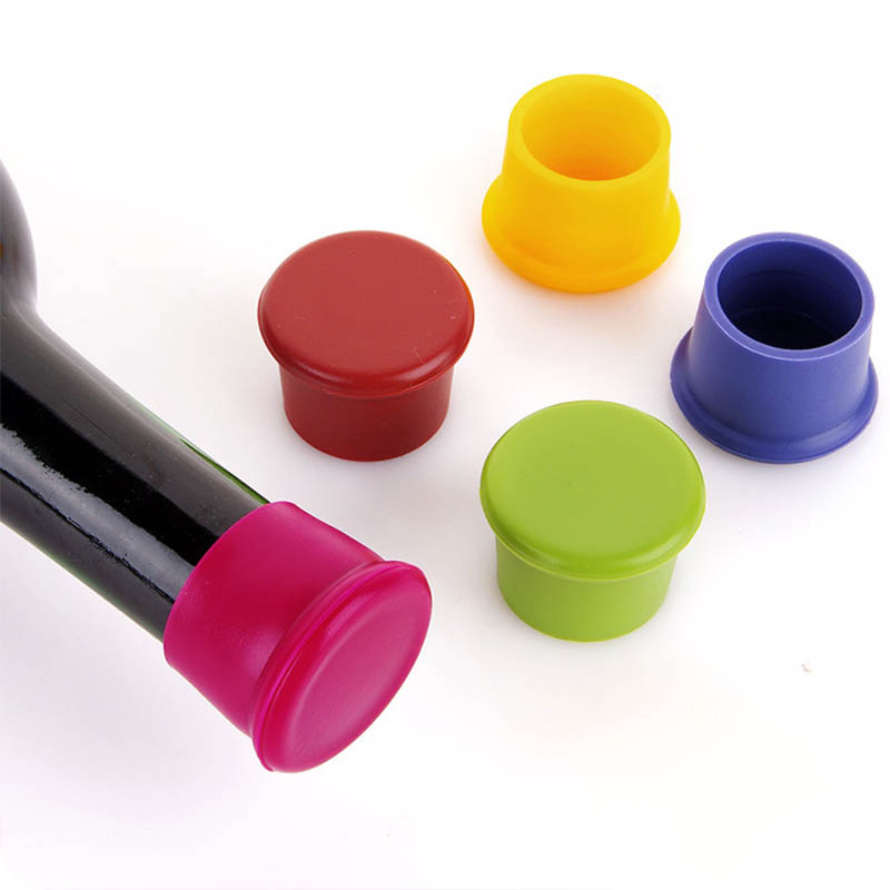 1Pcs  Silicone Cork Wine Bottle Stopper Leakage-proof  Beverage Bottle Caps Sealers Leak Free  Beverage Closures Wine Stoppers