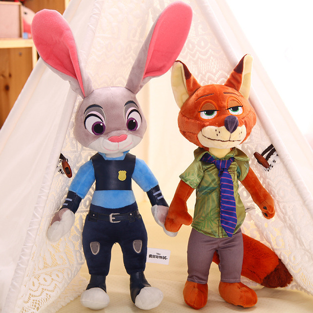 2pcs/lot 40cm Movie Zootopia Plush Toy Cute Zootopia Rabbit Judy Hopps Plush Toys Doll Soft Stuffed Animals Toys Children Gift