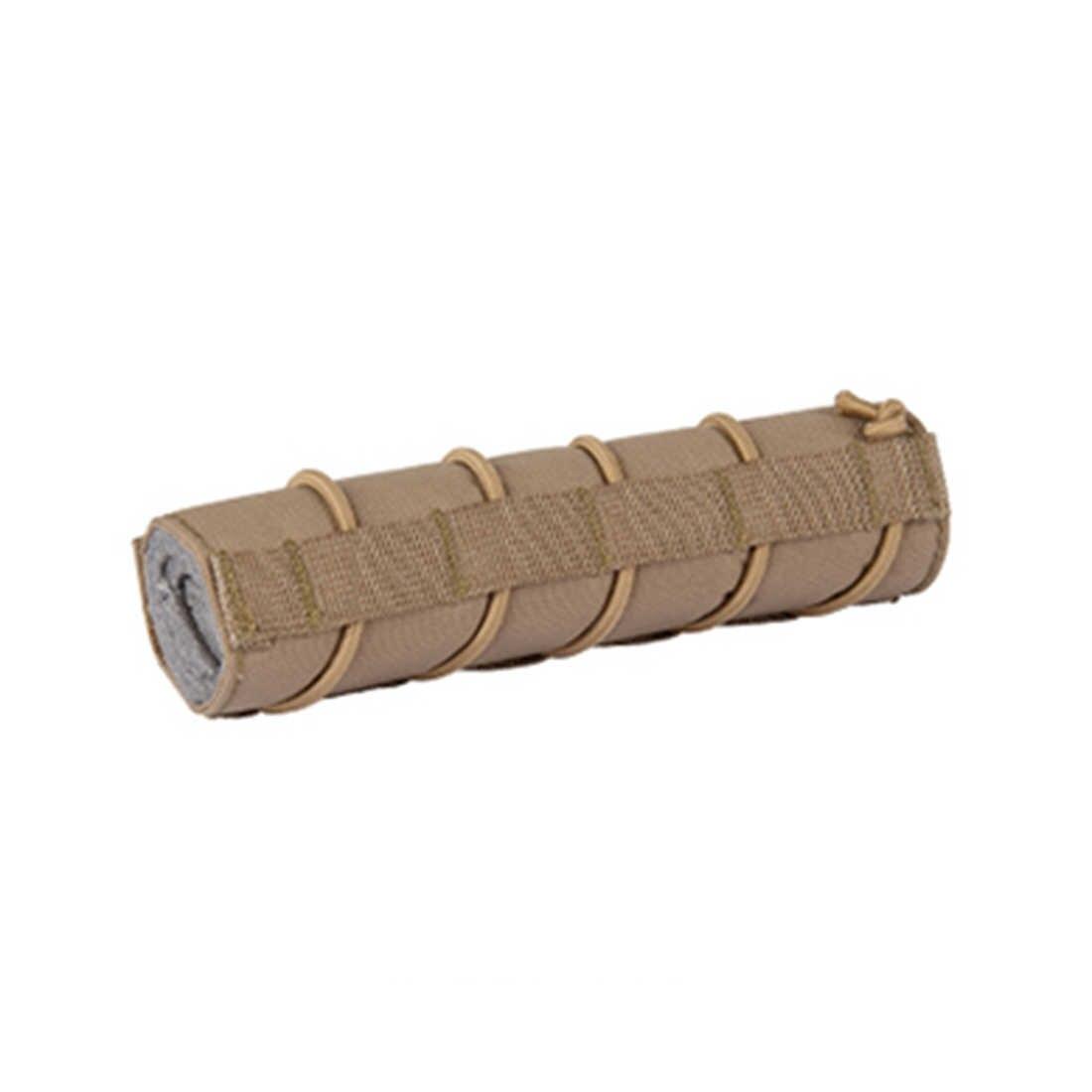 18cm supresores Anti-arañazos cubierta de Gel de agua cuentas táctico tapa del silenciador-BK