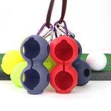 1 шт. Открытый гольф 2 мячи держатель мягкий силикон защитный мяч крышка аксессуары с карабином для спорта инструмент упаковка мячи гольф