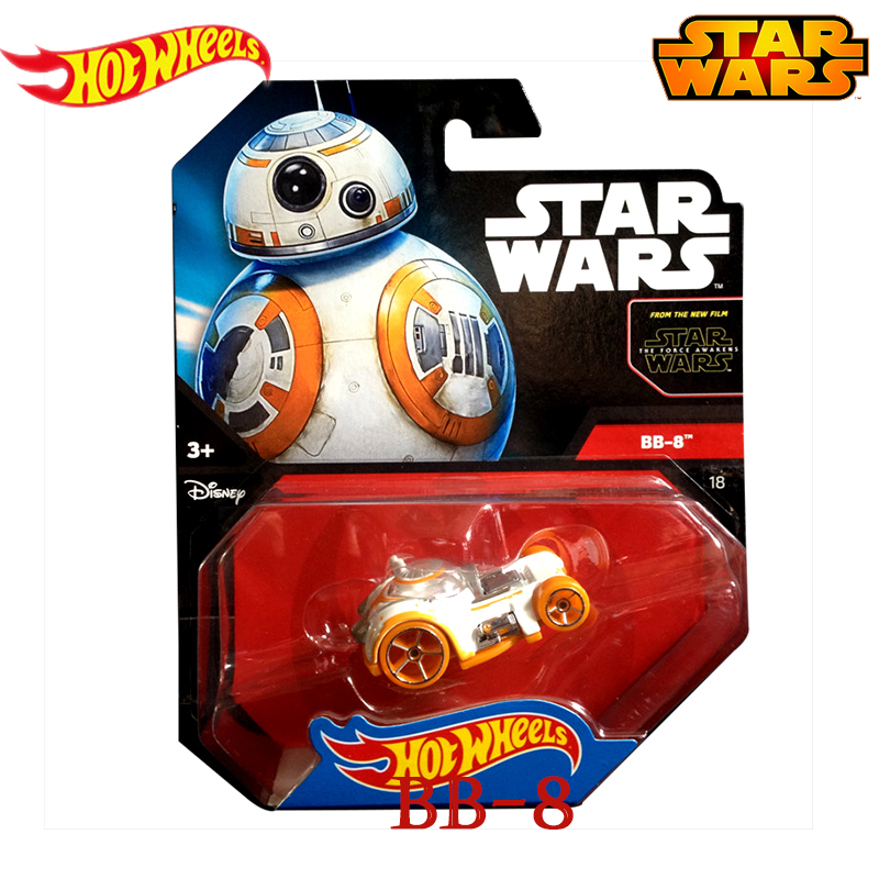 Star Wars Classic Science Fiction Film Same Style Genuine Hot Wheels  Series Bb 8 Role Track Car Toys of Boy CWG35