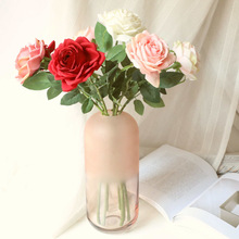 10pcs Single Branch Rose Artificial Flowers Fabric Flower Wedding Hand Holding Bouquet Home Decoration Garden Fake Flowers Roses artificial hand made flowers
