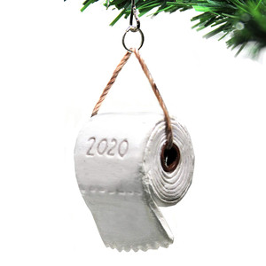 2020 Christmas Ornaments Toilet Paper Tree Decoration Hilarious Funny Xmas Decorations Crisis Pendant New Year Gift Navidad