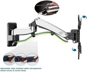 """Image 5 - Nb north bayou preto f300 suporte completo da tevê da montagem da parede do monitor do movimento com mola de gás ajustável para a tevê do monitor do lcd do diodo emissor de luz de 24 """" 35"""""""
