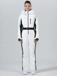 Traje de esquí de una sola pieza chaqueta de esquí de mujer Mono de esquí trajes de Snowboard traje de deporte de invierno esquí Snowboard Set ropa de nieve