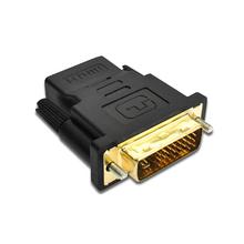 DVI wtyk męski do HDMI adapter żeński DVI (24 + 5) na złącze HDMI tanie tanio SHELKEE Mężczyzna Męski-żeński Kable dvi female