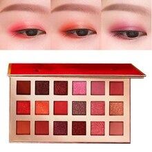 Классический китайский стиль 18 цветов Палитра теней прессованные мерцающие тени для век макияж матовый порошок Палитра Косметика