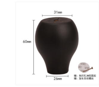013 Furniture Accessories Fittings Solid Wood Cabinet Footpad Lotus Table Foot Heightening Ball Chair Furniture Heightening