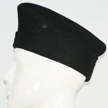 WWII WW2 GERMAN WH WEHRMACHT SOLDIER EM PANZER WOOL GARRISON CAP HAT BLACK