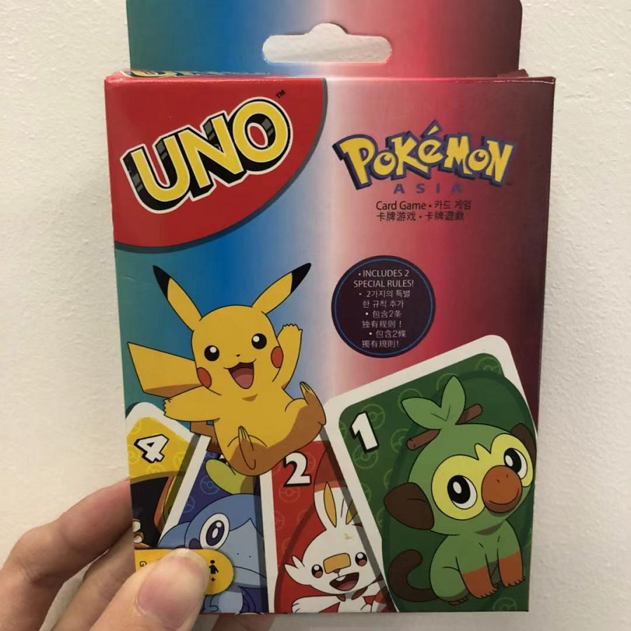 UNO с персонажами игры «Pokemon меч и щит карточная игра Семья забавные развлечение настольная игра покер карты игра в подарочной коробке