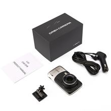 Portable Size Black 4 inch IPS Screen Dual Core CPU 1200W H.264 140 Degree Super Wide Angle Car DVR Dash Camera(China)