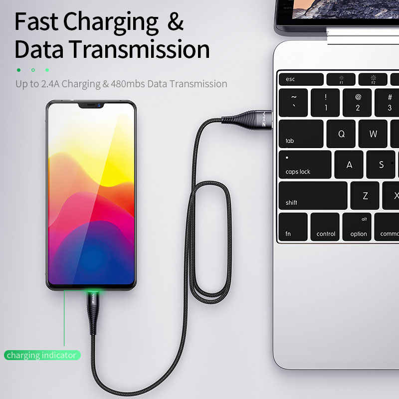 Ykz 3A Led Micro Usb-kabel Snelle Opladen Microusb Charger Datum Kabel Draad Voor Samsung Huawei Xiaomi Cord Android Mobiele telefoon