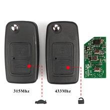 Jingyuqin لشيري تيجو 3 دوامة تينغو 2 زر الوجه التحكم عن بعد مفتاح 315Mhz أو 433Mhz السيارات مفتاح بعيد فوب