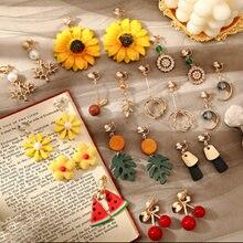 Frauen ohr clips blume form nette clip Ohrringe stilvolle koreanischen stil elegante mode schmuck Ohrringe für mädchen Blütenblatt Ohrringe
